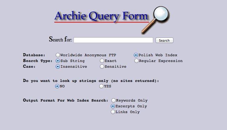 первые поисковые системы